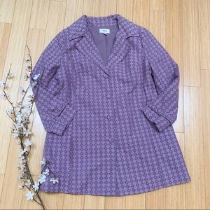 MERONA women's lined purple jacket, plus sz 1X.